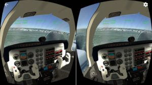 VR Flight Simulator iOS: Inside Cockpit